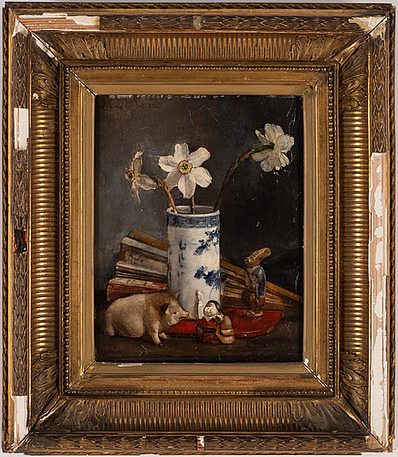 Anna munthe-norstedt, oil on panel, signed and dated -84.