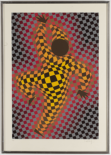 Victor vasarely, silkscreen, 1987, signed and numbered 123/275.