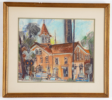 Charles camoin, pastel, signed.