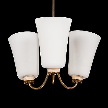 Lisa johansson-pape, taklampa, modell 211-3, stockmann orno 1900-talets mitt.