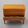 A 1940's swedish modern chest of drawers by åby möbelfabrik.