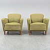 A pair of easy chairs, 1930s/1940s.