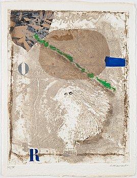 James Coignard, portfolio with 3 carborundum etchings, 1981, signed 72/75.