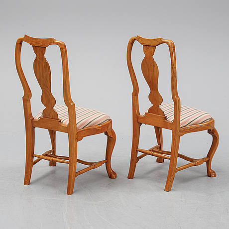 A set of six rococo chairs, second half of the 18th century.