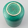 """Wilhelm kåge, a stoneware """"argenta"""" vase."""