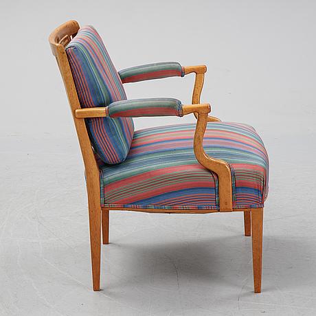 Josef frank, a mahogany model 969 armchair from svenskt tenn.
