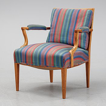 Josef Frank, a mahogany model 969 armchair from Svenskt Tenn.