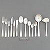 Jacob ängman, a 'rosenholm' silver cutlery service, gab, (99 pieces).
