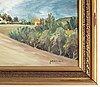 Sten sture sandgren, signed. canvas 46 x 100 cm.