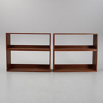 A set of four bookshelves from the second half of the 20th-century.