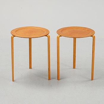 A pair of Axel Larsson side tables for Svenska Möbelfabriken, Bodafors.