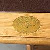 An oak writing desk by finn n hansen. end of the 20th century.