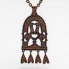 A bronze necklace, model no. 196. kalevala koru, helsinki.