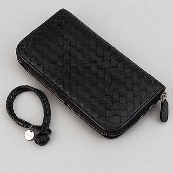 Bottega Veneta, a wallet and bracelet.