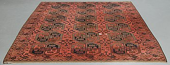 A carpet, Antique / Semi-Antique Ersari, ca 350 x 254 cm (as well as 6 cm flat weave at the ends.