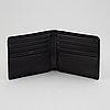 Bottega veneta, a black leather wallet.
