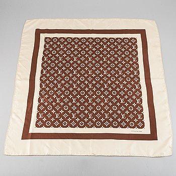 Louis Vuitton, a silk scarf.