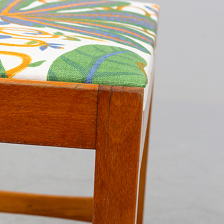 A stained birch stool, 1940's/50's.