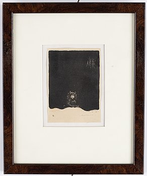 John Bauer, lithograph, signed John Bauer in pencil, number 2.