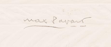 Max papart, carborundum och kollage med reliefprägling, 1983, signerad, numrerad e.a. ii/x.
