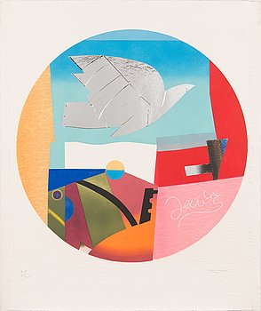 Max Papart, carborundum and collage with embossing, 1983, signed, numbered E.A. II/X.