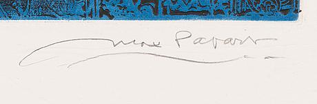 Max papart, carborundum ja akvatinta, 1979, signeerattu ja merkitty ea 9/15.