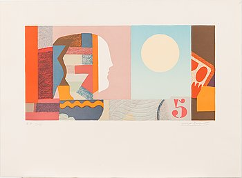 Max Papart, lithograph, 1978, signed and marked E.A. 13/15.
