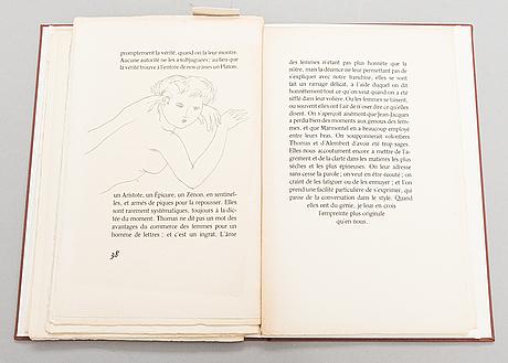 """Book, """"sur les femmes"""", diderot, pointes-sèches originales de max papart, aux dépens de l'artiste, 1952."""