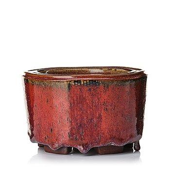 "76. Wilhelm Kåge, a ""Farsta"" stoneware bowl, Gustavsberg studio, Sweden 1958."