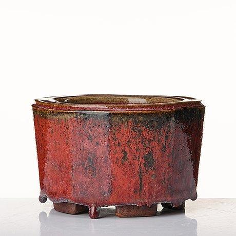 "Wilhelm kåge, a ""farsta"" stoneware bowl, gustavsberg studio, sweden 1958."