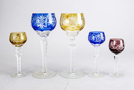 A late 20th century polish glass set of 28 pcs.