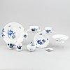 """27 pieces, """"blå blomst"""" royal copenhagen, denmark."""