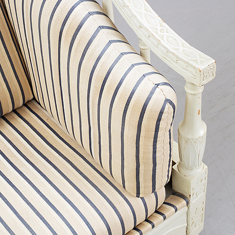 A late gustavian style sofa, 19th century.