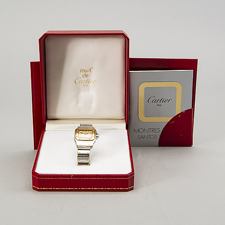 Cartier, santos carree, wristwatch, 24 x 24 (35) mm.
