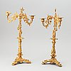 A pair of neo-rokoko candelabra from the second half of 19th century.