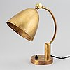 A mid 20th century brass table light.