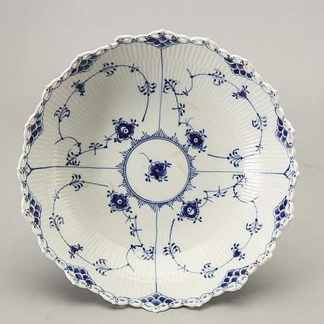 A bowl and plate royal copenhagen denmark later part of the 20th century.
