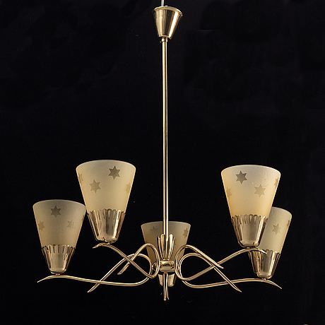 A 1940's swedish modern ceiling lamp.