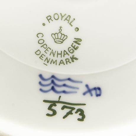 Servis 29 dlr musselmalet hel och halvblonde royal copenhagen danmark 1900-talets andra hälft porslin.
