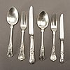 An english 19th century 21 pcs of silver cutlery, different makers.