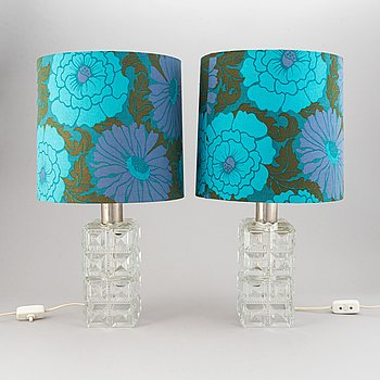 A pair of table lamps. Tyringe Konsthantverk.