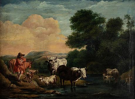 Philipp peter roos, hans efterföljd, olja på duk.