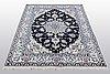A rug, nain, paret silk, sk 9 laa, 204 x 152 cm.