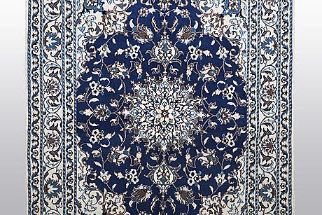 Matto, nain, part silk, 9 laa, ca 203 x 147 cm.