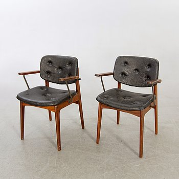 Armchair, a pair about 1950.