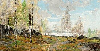 78. Arvid Mauritz Lindström, Vårlandskap.
