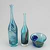 Two vases and bowl, bengt orup, johansfors.