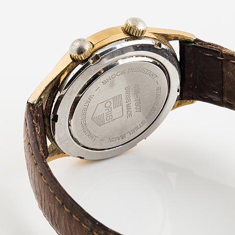 Oris, wrist alarm, wristwatch, 34 mm.