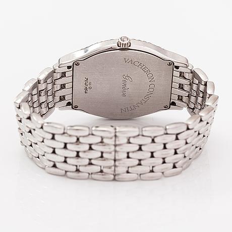 Vacheron constantin, tonneau, armbandsur 32 x 32 mm.