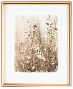 Lars Jonsson, lithograph in colours, signed PT.